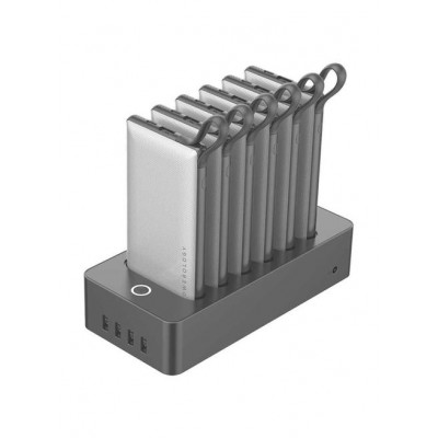 Powerology 10000mAh 6in1 Power Bank Station - White Grey