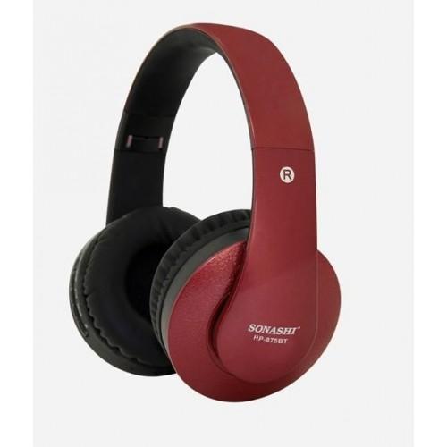 Sonashi  HP-875BT Wireless Bluetooth Headphone Red