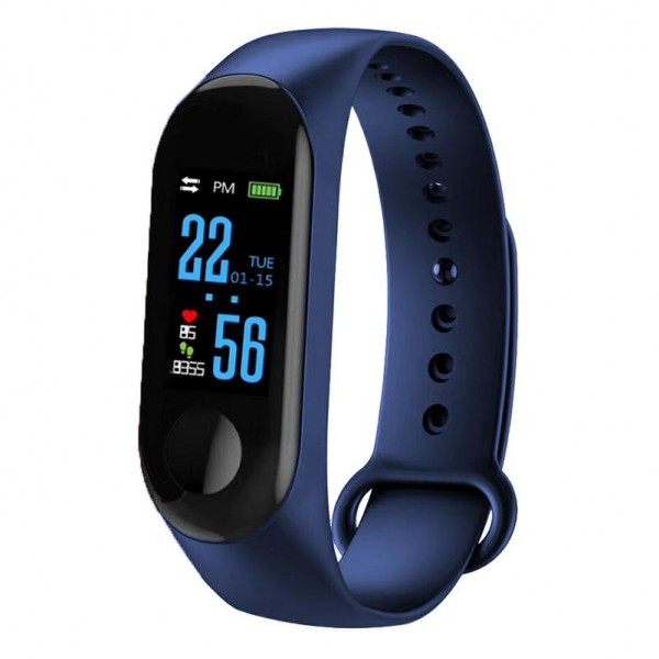 CTRONIQ Bond X - Smart Activity Tracker, BT connect, Health monitors, Daily alarms & reminders, Blue