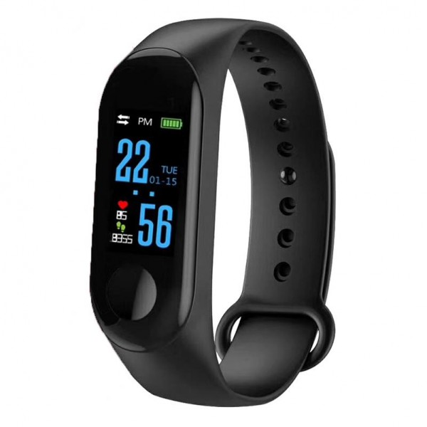 CTRONIQ Bond X - Smart Activity Tracker, BT connect, Health monitors, Daily alarms & reminders, Black