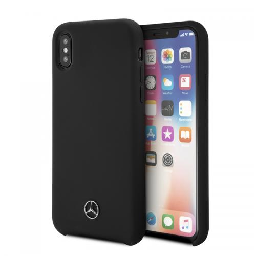 iPhone Xr Mercedes Benz Liquid Silicon Black