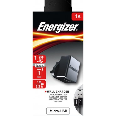 Energizer Engzr Cl Wall Charger Micro-USB 1A 1USB Uk Bk