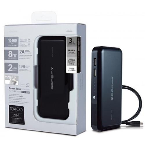 Probox Portable Powerbank 10400mAh Black -HE 310KU2-R