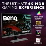 BenQ 4K Gaming Monitor EW3270U HDR, 32 inch, Low Blue Light, Flicker Free, Eye Care Gaming Monitor for Multimedia.