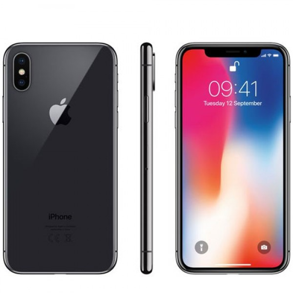 Apple iPhone X with FaceTime 256GB  4G LTE Grey Certified Pre-owned