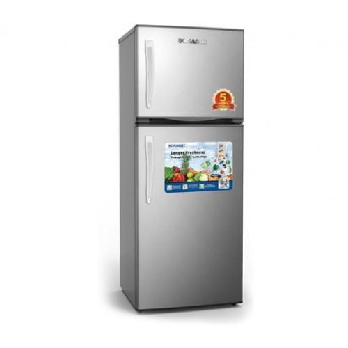 SONASHI Double Door Refrigerator 250L SFD-250NF Metallic Grey