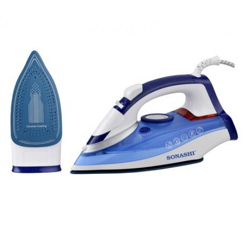 Sonashi si-5074c Steam Iron With Ceramic Soleplate -2400w (Blue)
