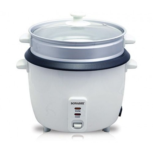 Sonashi src-306 0.6 Ltr Rice Cooker With Steamer