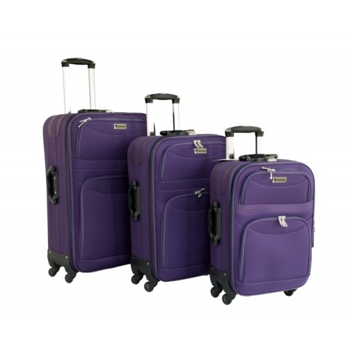 "Discovery RW 3210 Trolly Luggage Safari 20"" 24"" 28"" - Purple"