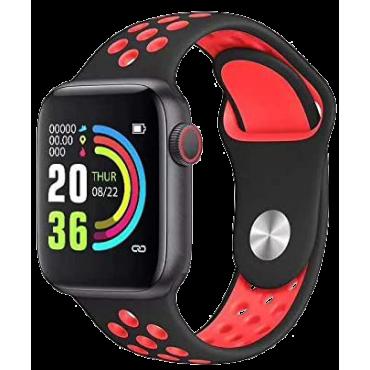 BSNL Smart Watch  W5 Fitness Sports Heart Rate Bracelet Waterproof Red