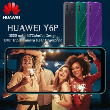 HUAWEI Y6P Dual SIM, 64GB, 3GB RAM, 4G LTE, 13MP + 5MP + 2MP Emerald Green