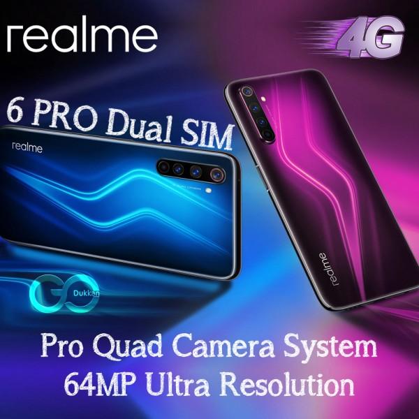 REALME 6 PRO Dual SIM 8GB RAM 128GB 4G LTE 64MP + 12MP + 8MP + 2MP
