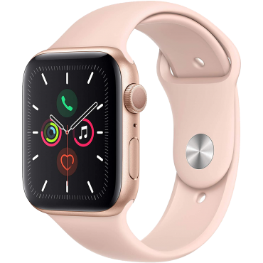 Apple Watch Series 5 44mm Gold Aluminum Case with Pink Sand Sport Band GPS