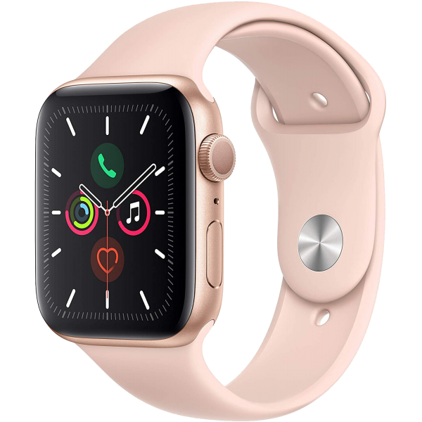 Apple Watch Series 5 40mm Gold Aluminum Case with Pink Sand Sport Band GPS