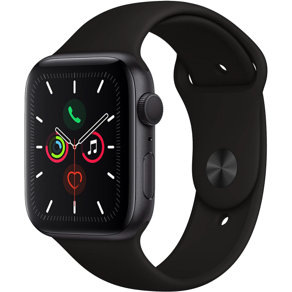 Apple Watch Series 5 40mm Space Gray Aluminum Case with Black Sport Band GPS