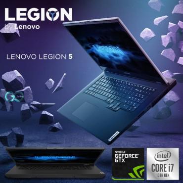"""Lenovo Legion 5 15IMH05H Intel Core i7-10750H (6C / 12T, 2.6 / 5.0GHz, 12MB) 16GB 256GB SSD + 1TB HDD NVIDIA RTX 2060 6GB GDDR6 15.6"""" FHD , 144Hz, Dolby Vision 4-Zone RGB, Ar-En Keyboard Phantom Black"""