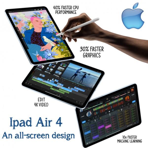 "Apple Ipad Air 4 10.9 "" With Facetime Wifi 2020"