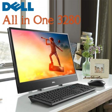 "Dell  AIO 3280 intel 8th Gen i3-8145U 4GB 1TB HDD 21.5"" Full HD USB Keyboard & Mouse DOS Black Color"