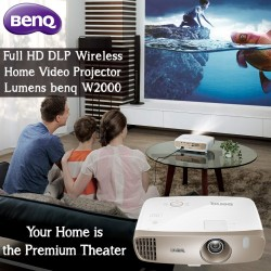 BenQ Full HD DLP Wireless Home Video Projector 2000 Lumens benq W2000