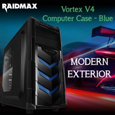 Raidmax Vortex V4 Computer Case - Blue