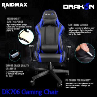 Raidmax Drakon DK706 Gaming Chair - Blue