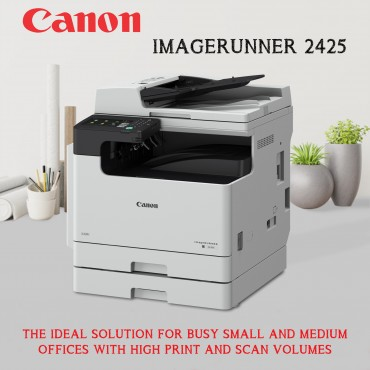 Canon imageRUNNER 2425 All-In-One Printer White A3 Monochrome Laser Multifunctional Print, Copy, Scan