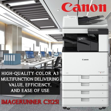 Canon Canon imageRUNNER C3125i High quality colour A3 multifunction delivering value, efficiency and ease of use With Toners