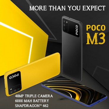 Xiaomi Poco M3 Dual SIM 128GB 4GB RAM 48MP + 2MP + 2MP