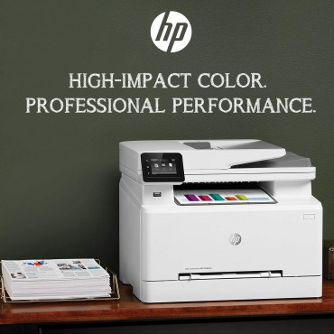 HP Color LaserJet Pro MFP M283fdw Print, copy, scan, fax Up to 21 ppm , Up to 600 x 600 dpi DUPLEX PRINTING WiFi