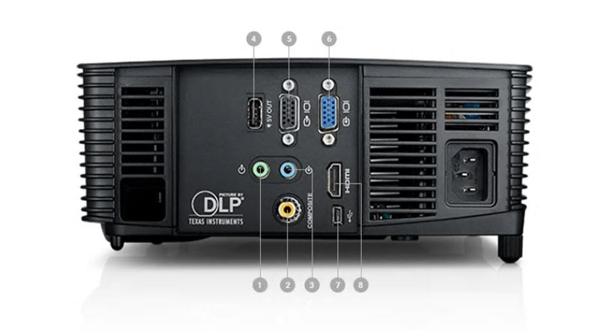Dell P318S Projector - Ports and Slots